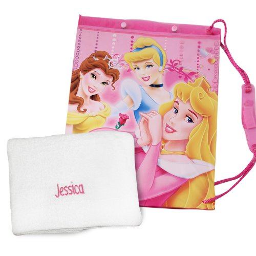 Disney Princess Swim Bag with Personalised Towel - Embroidered For Free - Childrens