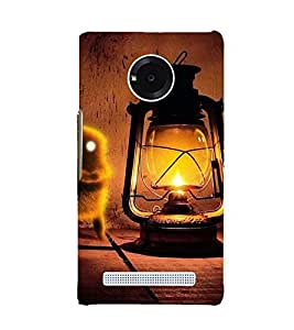 VINTAGE LANTERN WITH AN ANIMATED BIRD 3D Hard Polycarbonate Designer Back Case Cover for YU Yuphoria::Micromax Yuphoria YU5010