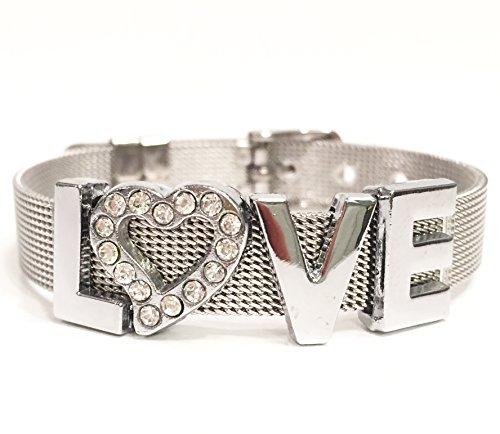 Stainless Steel Mesh LOVE Bracelet