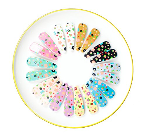 Starfish Berry 20Pc Plastic Snap Toddler Girl Hair Clips, New 10 Pairs Baby Shower Newborn Girls Gift Set Sb01 front-9151