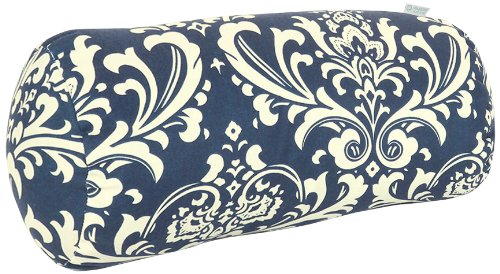 Majestic Home Goods French Quarter Round Bolster, Navy Blue front-706742