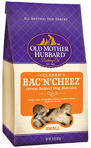 Old Mother Hubbard Classic Crunchy Natural Dog Treats, Bac'N'Cheez Small Biscuits, 20-Ounce Bag (Old Mother Hubbard Bac N Cheese compare prices)