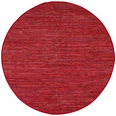 Matador Leather Chindi Round Rug, Red, 8 by 8-Feet