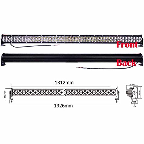 Eteyo 300W Work Light Dustproof Combo Bar Long Wide Range Waterproof Quakeproof Great