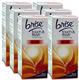 6x Glade / Brise Touch N Fresh Refill Anti Tobacco 10ml