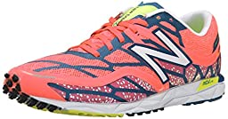 New Balance Women\'s WRC1600 Racing Flat, Pink/Blue, 7 B US