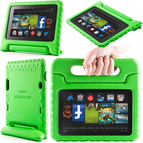 i-Blason ArmorBox Kido Series for All New Kindle Fire HD 7 Inch Tablet [2013 Release / Not Compatible with Kindle Fire HD 7 2012 Release] Light Weight Super Protection Convertiable Stand Cover Case Kids Friendly (Green)