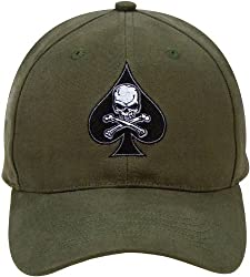 Low Profile Olive Drab Death Spade Baseball Cap