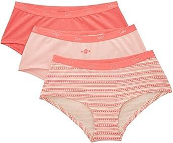 Dim - Trousse Pocket - Shorties - Quotidien - Lot de 3 - Femme - Rose (Lot Rose) - FR : 36 (Taille fabricant : FR: 36 (Taille fabricant: 36/38))