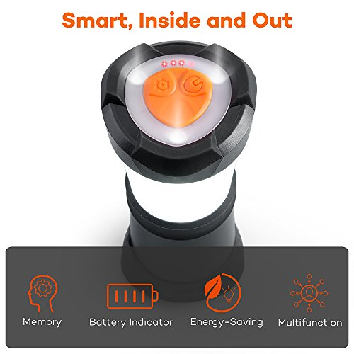 Same-Size-Brighter-Same-Bright-Smaller-LED-Camping-Lantern-TaoTronics-Portable-LED-Lantern-Flashlight-for-Hiking-and-Emergency-Ultra-Bright-Dimmable-6-Lighting-Modes-with-Battery-Indicator