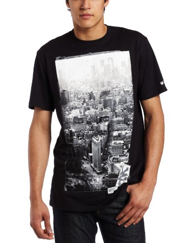 Zoo York Men's Flatiron Reflection Tee, Black, Medium