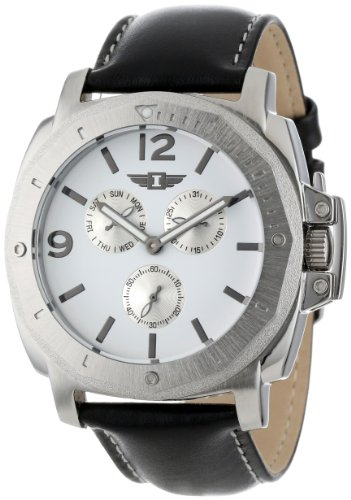 I By Invicta Men's 41703-002 Stainless Steel Black leather Watch