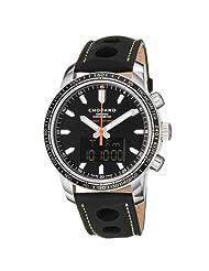 Chopard Men's 168518-3001 Miglia Monaco Black Anaog and Digital Dial Watch