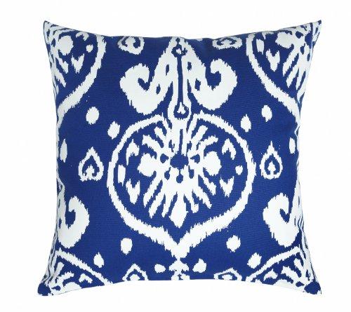 Pillow Throw Pillows Cushion Decorative Pillows Accent 18 Inch Ikat Blue Pillow Square