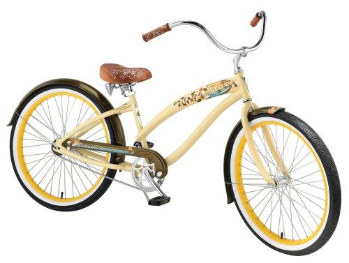 Nirve Lahaina Women's Single-Speed Cruiser Bike (Cocoa Butter)