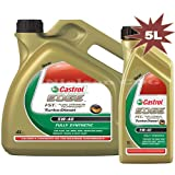 Castrol Edge 5W-40 FST Turbo Diesel Engine Oil CAS-2059-7065-5 - 1x4L+1x1L = 5 Litre