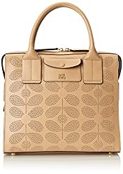 Orla Kiely Sixties Stem Punched Leather Margot Bag