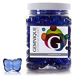 Gemnique Decorative Glass Shapes - Butterflies (Blue Luster, 48 oz.)