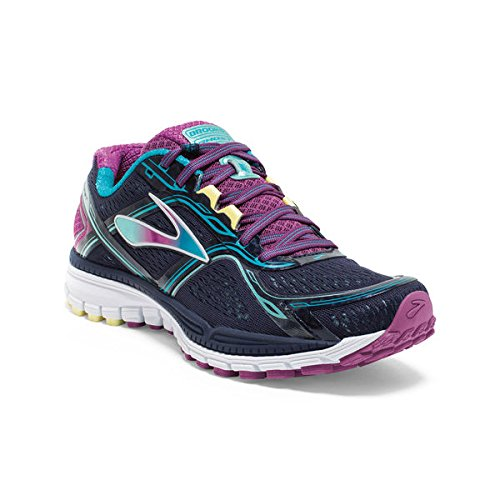 Women's Brooks Ghost 8 Running Shoe Peacoat/Hollyhock/Capri Breeze Size 8.5 M US (Brooks Running Shoes Women Size 8 compare prices)