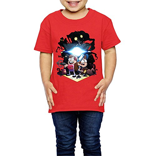 LFISH3 Darkness Angle Falls Cute Infant Cotton T-Shirts Red 4 Toddler