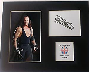 Limited Edition The Undertaker Signed Display Printed Autograph Boxing Autograph Autograf Autogram Signiert Signature Mount Frame