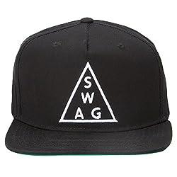 Urban Monkey Premium Black SWAG Adjustable Baseball Snapback Free Size Unisex Hip Hop Cap