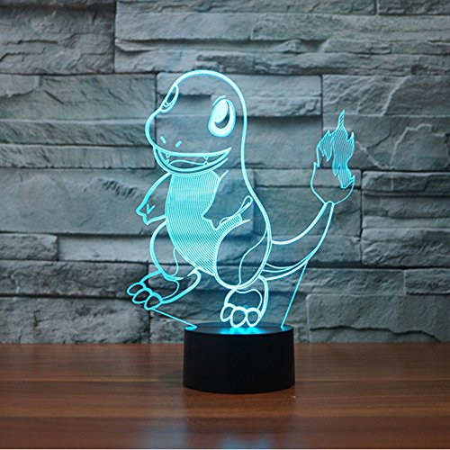 Pokemon Charmander 3D Illusion Night Light