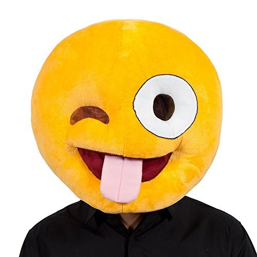 Crazy-Emoji-Masque-Visage-pour-Humour-Fantaisie-TlPhone-Dguisement-Bal-Masque
