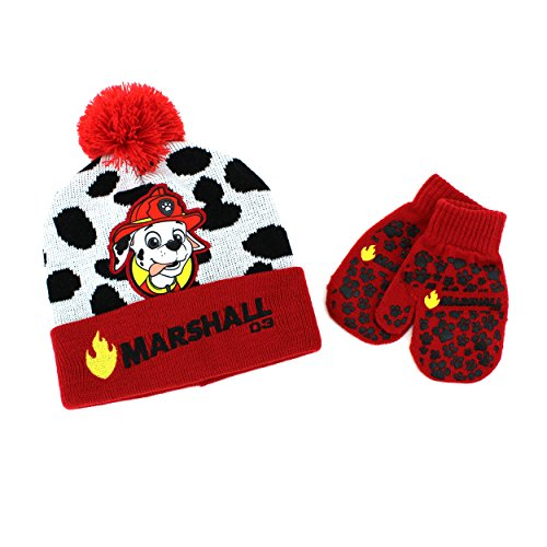 disney-nickelodeon-toddler-boys-hat-and-mittens-set-red-paw-patrol-marshall