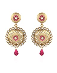 I Jewels Tradtional Gold Plated Elegantly Handcrafted Pair Of Fashion Earrings For Women. - B00N7IPA5M