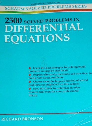 2500 Solved Problems in Differential Equations (Schaum's Solved Problems Series) PDF