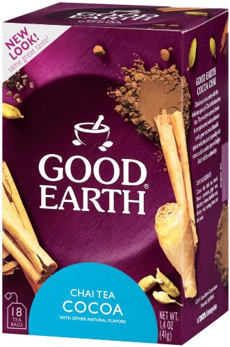 Good Earth Chai Tea and Cocoa, 18-Count Tea Bags (Pack of 6)