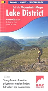 Lake District BMC (British Mountain Map), by Harvey Maps