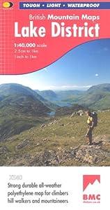 Lake District BMC (British Mountain Map), by Harvey Maps