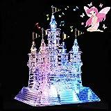 WAYCOM 105ピース3D立体音楽クリスタルパズル 8曲音楽 LED照明付き 子どものおもちゃ お城が綺麗に光る