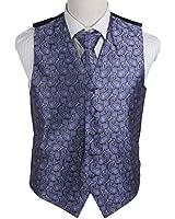 EGD1B.01 Series Pattern Microfiber Dress Tuxedo Vest Neck Tie Set Mens By Epoint