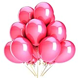 Ostenx 50 Luftballons metallic bunt Premiumqualität Ø ca. 25cm (Rosa)