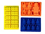 Silicone Mold for LEGO lovers - Use for soap making, fondant tools, chocolate molds, hard candy kit and as an ice cube tray - Make building bricks and mini-figures as party favors and cake toppers - Guaranteed family fun in your kitchen! +*BONUS*