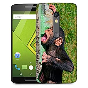 Snoogg Chimpanese Drinkng Water Designer Protective Phone Back Case Cover For Moto G 3rd Generation