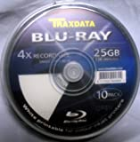 20 x Traxdata Blu-Ray 25Gb 4x BD-R Blank Discs – White Inkjet Printable (2 x 10 Packs)