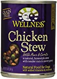 Wellness Natural Grain Free Wet Canned Dog Food, Chicken Stew with Peas & Carrots, 12.5-Ounce Can (Value Pack of 12)