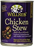 Wellness Canned Dog Food for Adult Dogs, Chicken Stew with Peas and Carrots, 12-Pack of 12-1/2-Ounce Cans