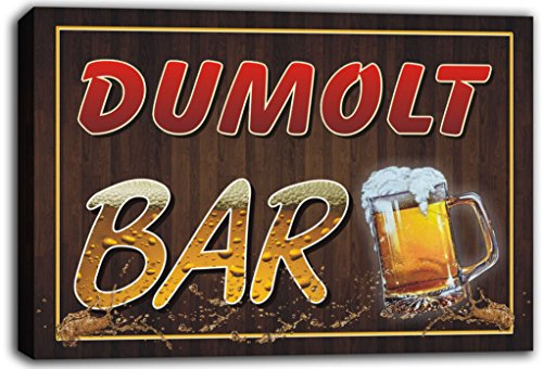 scw3-109467 DUMOLT Name Home Bar Pub Beer Mugs Cheers Stretched Canvas Print Sign