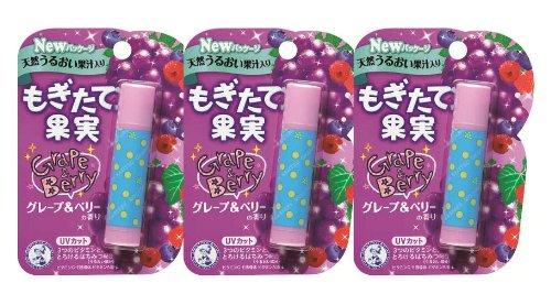 メンソレータム もぎたて果実 グレープ&ベリーの香り 4.5g 3個セット