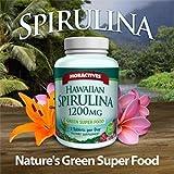 Moractives Hawaiian Spirulina 1,200 mg - Green Super Food - 240 Softgels