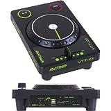 DJ-Tech VTT-101 Ultraleichter  USB Midi Controller im Turntablist-Design mit 45-mm Crossfader