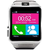 Prefeco Gear GV08 Bluetooth Smart Watch Smartwatch Mobile Phone Watch for iPhone and Android (Black)