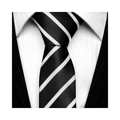 tns-black-white-thin-skinny-tie-neckties
