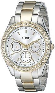 XOXO Women's XO5429  Rhinestone-Accented Two-Tone Bracelet Watch