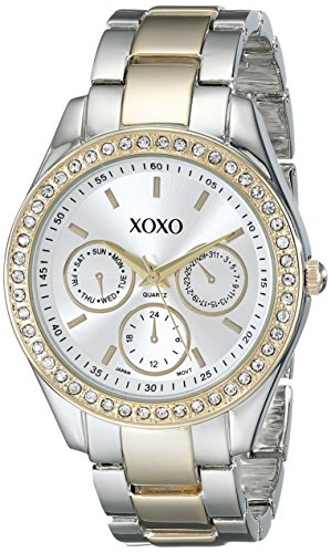 Cheap New XOXO Women's XO5429 Rhinestone-Accented Two-Tone Bracelet Watch